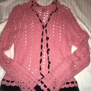 One Girl Who Anthro knit sweater small EUC